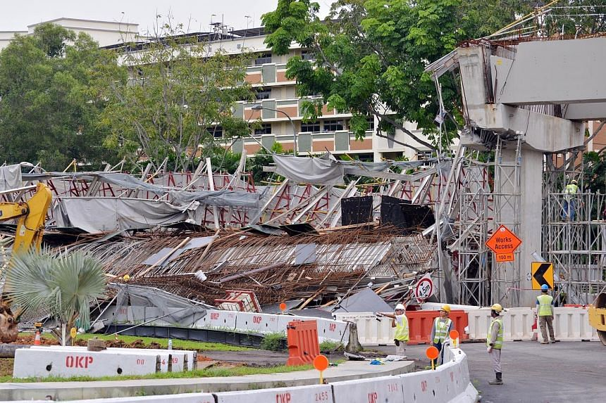 A 40m section of a PIE viaduct in Upper Changi collapsed on July 14 last year, leaving one worker dead and 10 others hurt - two seriously. Preliminary findings point to corbels breaking under the weight of wet concrete.