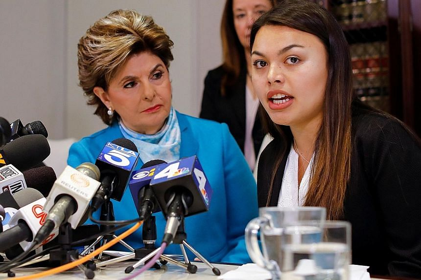 Ms Danielle Mohazab on Tuesday describing an alleged assault by University of Southern (USC) California gynaecologist George Tyndall. USC president C. L. Max Nikias (above) is accused of failing to protect the students.