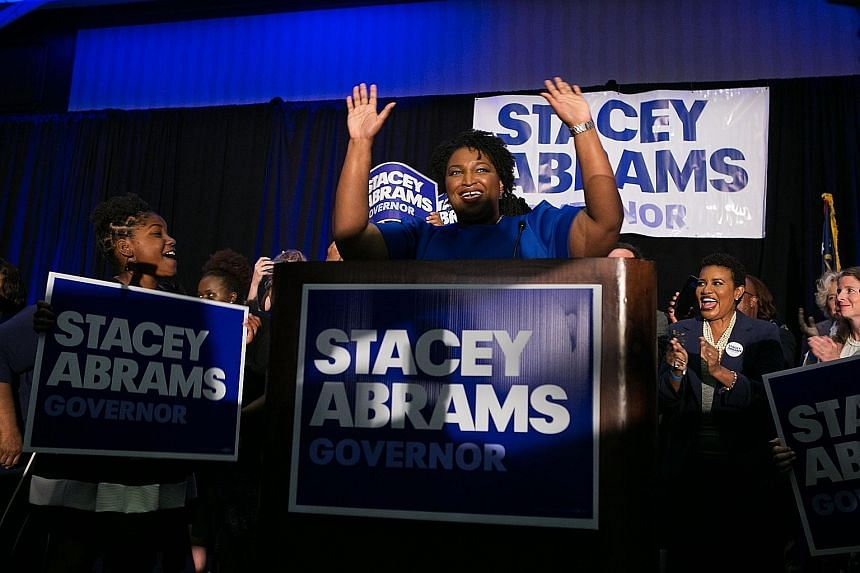 Ms Stacey Abrams of Georgia has won the state Democratic Party's nomination for governor, a prize that has eluded earlier generations of African-American candidates. Ms Abrams' victory came on the latest 2018 primary night to see Democratic women fin