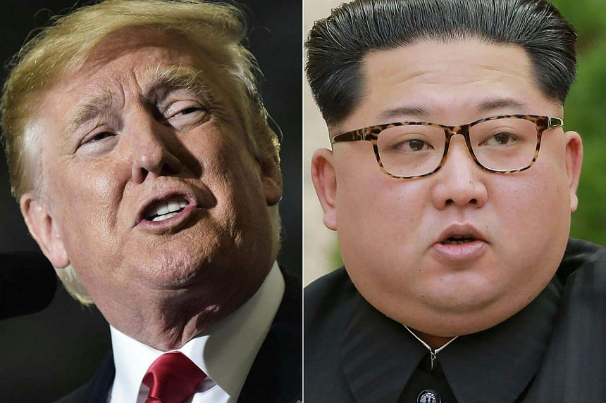 United States President Donald Trump (left) flagged the possibility there would be no summit with North Korean leader Kim Jong Un if certain conditions were not met.