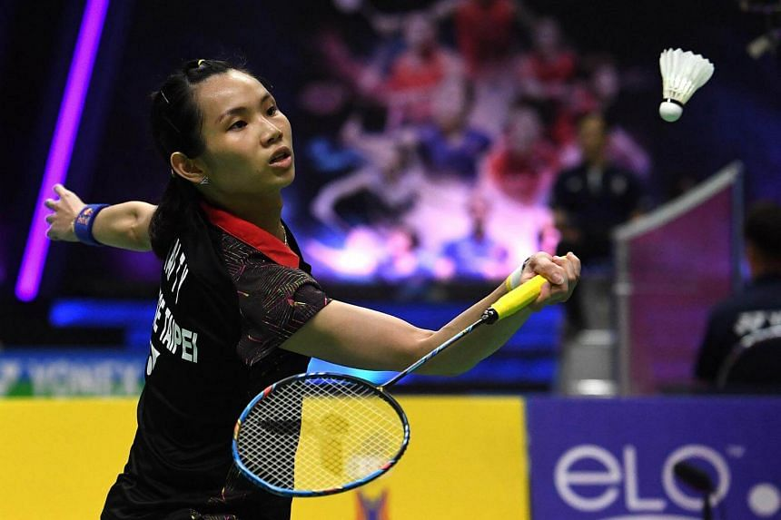 Tai Tzu Ying hits a return against during her women's singles match at the Thomas and Uber Cup in Bangkok, on May 23, 2018.