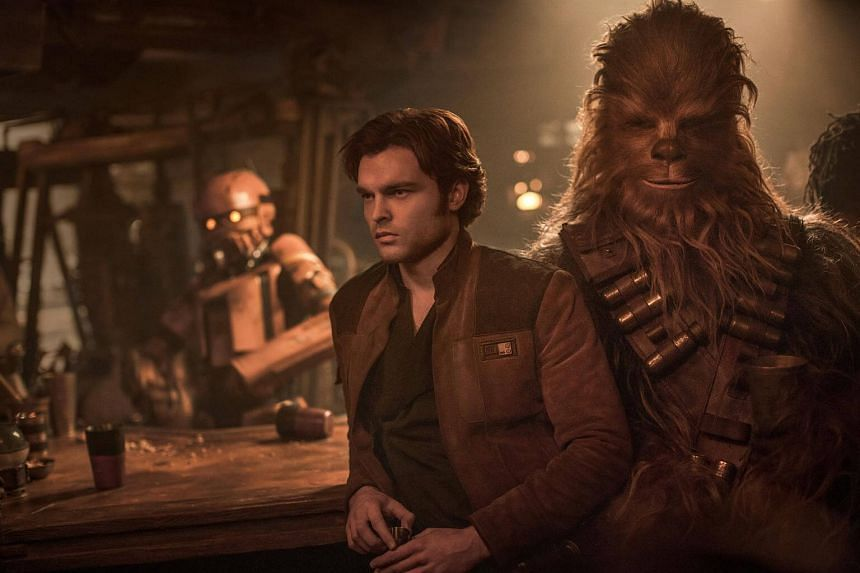 In this origin story, Han Solo (Alden Ehrenreich) is a lowly slum dweller who steals from the Empire.