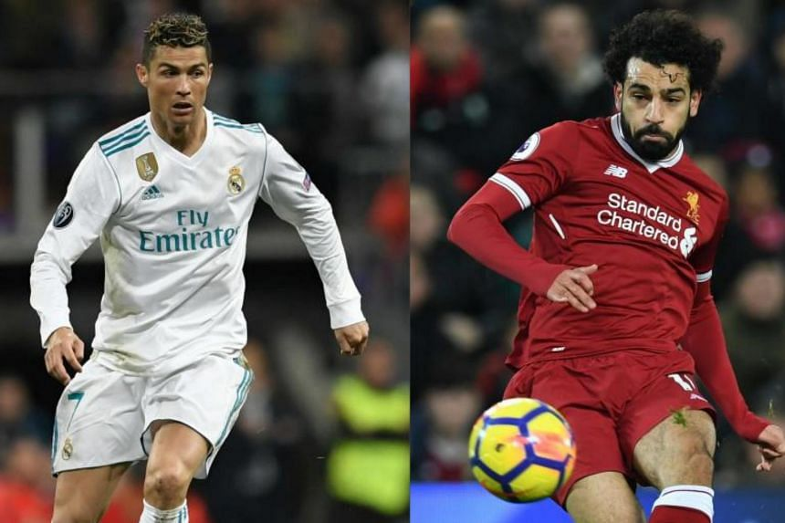 The upcoming Champions League final between Real Madrid and Liverpool - and Cristiano Ronaldo (left) and Mohamed Salah - could determine the winner of the next Ballon d'Or.