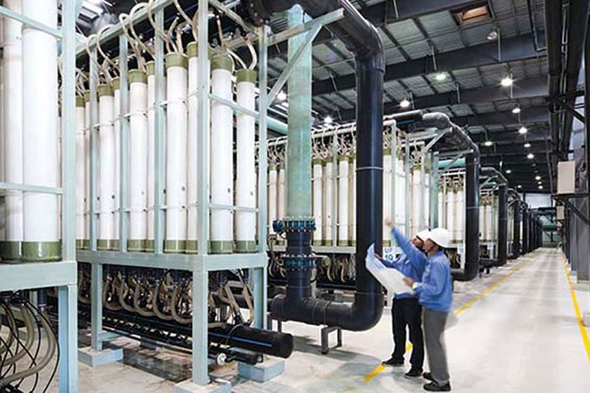 Hyflux's overseas projects include the Magtaa Desalination Plant in Algeria and Tianjin Dagang Desalination Plant (above) in China.