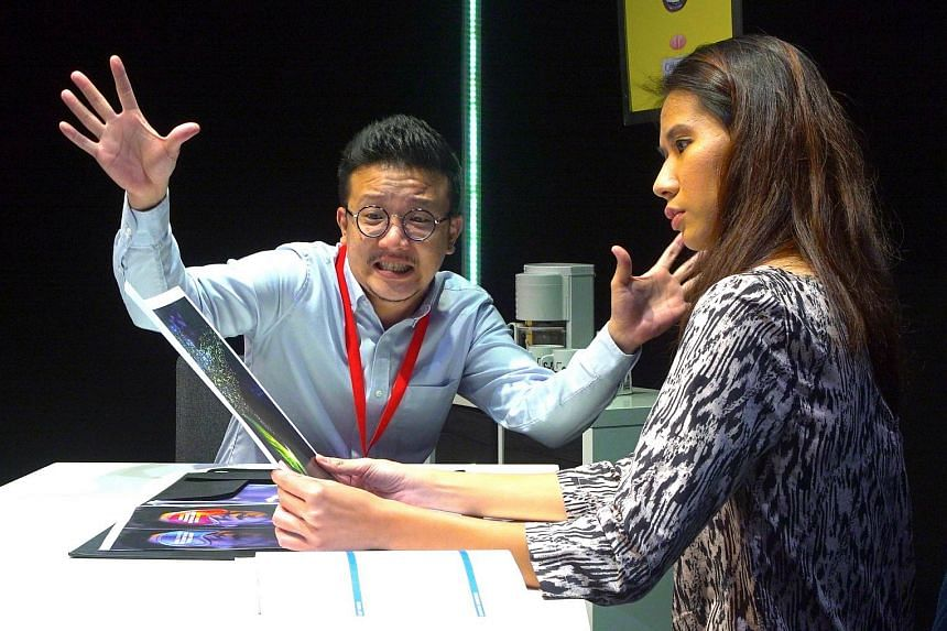Mark Seow and Deborah Hoon in The Consultant.