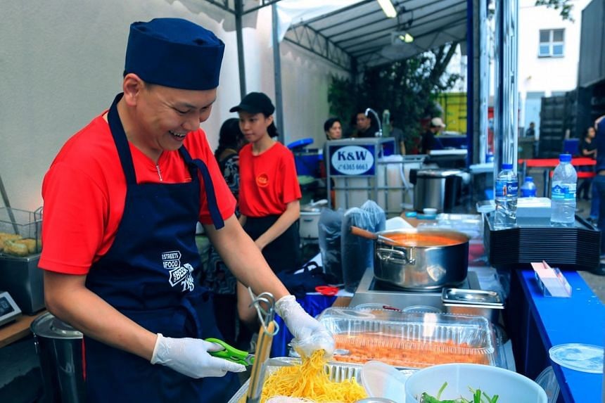 Tiger Street Food Support Fund recipient Anson Loo from Prawn Village. Tiger White, a smooth and refreshing wheat beer, complements Prawn Village's heady seafood broth perfectly.