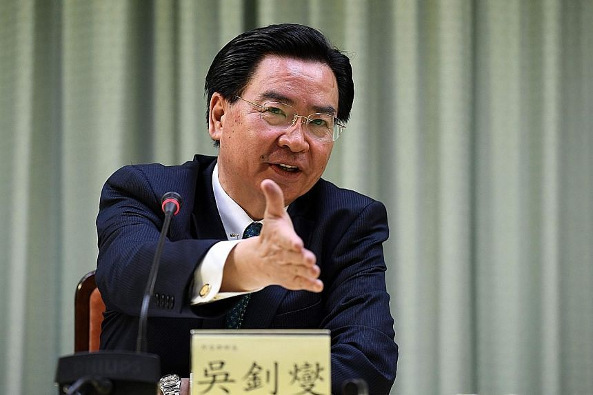 Foreign Minister Joseph Wu said Taiwan cannot compete with China's financial resources in the diplomatic space.