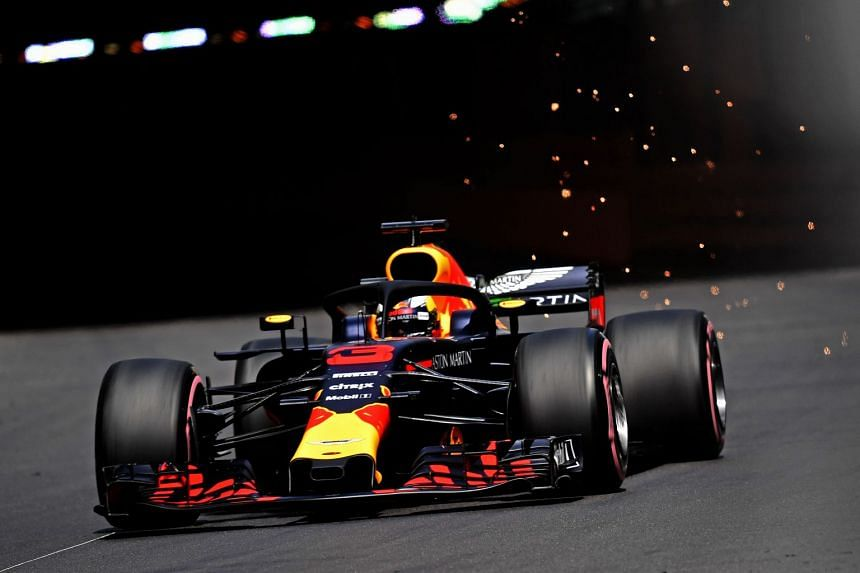 Ricciardo in action during the second practice session at Monte Carlo circuit in Monaco.