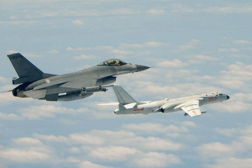 Taiwan air force scrambles as Chinese bombers fly around island
