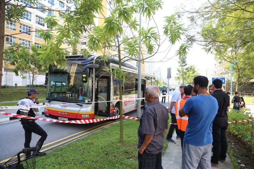 Ashvin was pinned under an SMRT bus in Choa Chu Kang Avenue 5 on May 24, 2018.