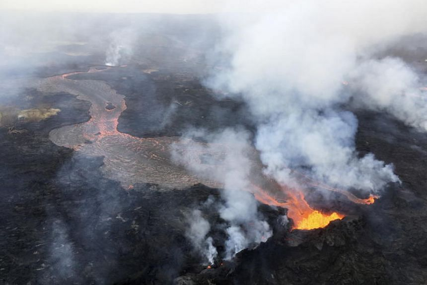Kilauea, one of the world's most active volcanoes, entered the fourth week of what may be an unprecedented, simultaneous eruption at its summit crater and along a 9.7km string of fissures 40km down its east flank.