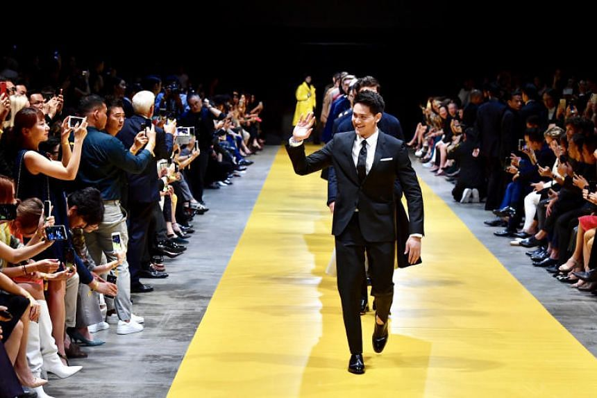 Fronting the finale of the 20-minute fashion show, Joseph Schooling looked confident and sophisticated in a sharp fitted suit and tie, as he led 40 models down the catwalk.