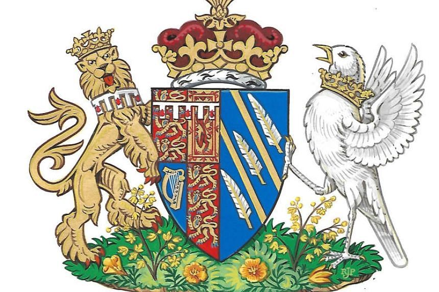 Britain's Meghan, the Duchess of Sussex's, new coat of arms is seen in this undated handout illustration issued by Kensington Palace in London, Britain, on May 25, 2018.