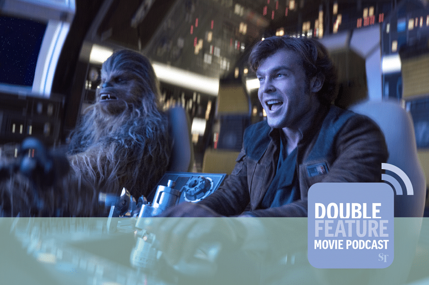 Solo: A Star Wars Story, starring Alden Ehrenreich, reviewed at the Double Feature Movie Podcast