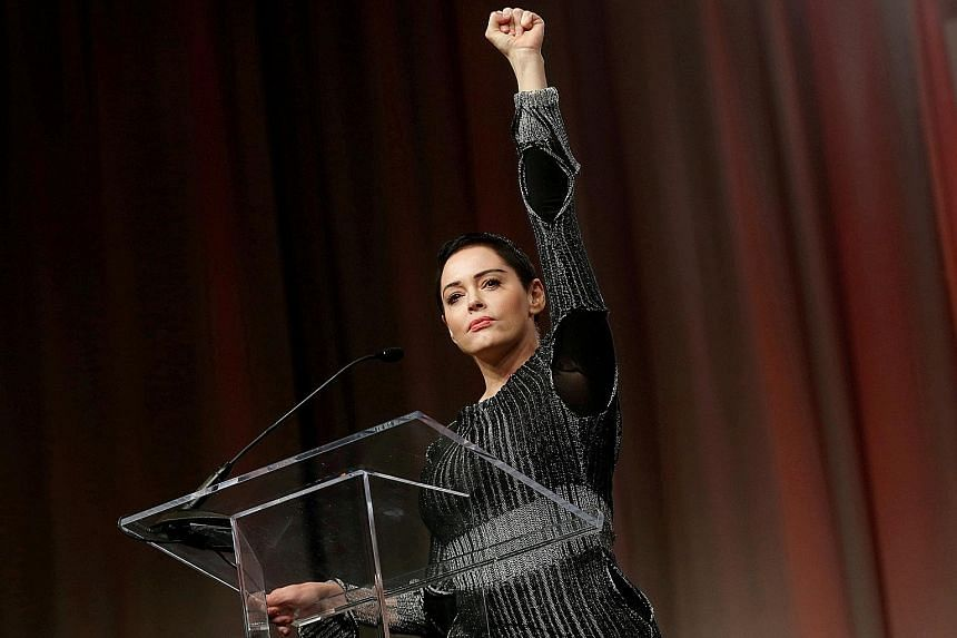 """Rose McGowan, who was among the first actresses to accuse producer Harvey Weinstein of sexual impropriety, said his victims were """"one step closer to justice""""."""
