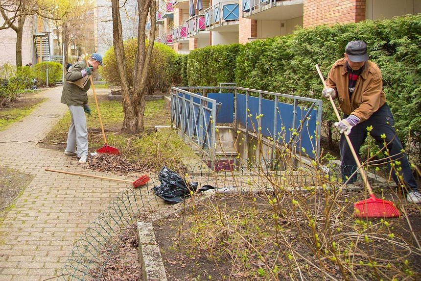 In urban areas, dugnad is generally associated with outdoor spring cleaning and gardening in housing cooperatives. In rural areas, neighbours also sometimes help fix up one another's houses or garages.