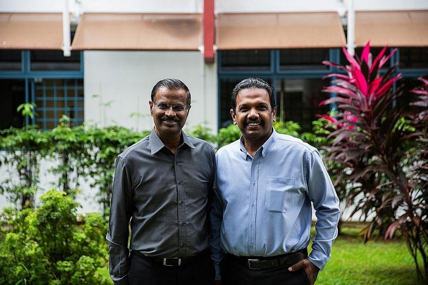 Mr Anbarasu Rajendran, 46, will be promoted to acting CEO of Sinda from July 1, replacing Mr Kumaran Barathan (far left), 61.
