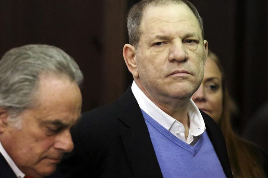 Harvey Weinstein is arraigned on multiple counts of sexual assault at a courthouse in New York, on May 25, 2018.