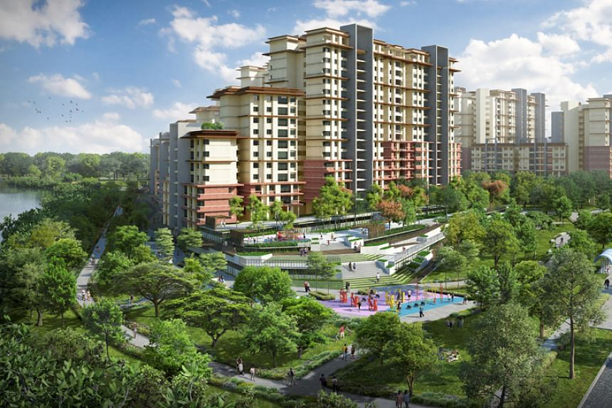Artist's impression of new public housing units to be built in Pasir Ris.