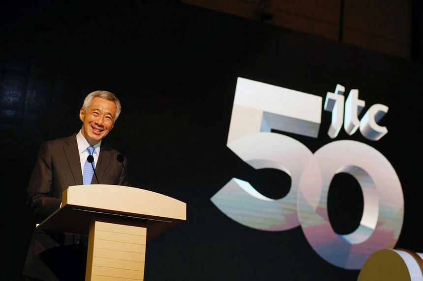 PM Lee Hsien Loong at JTC's 50th anniversary celebration, on May 25, 2018.