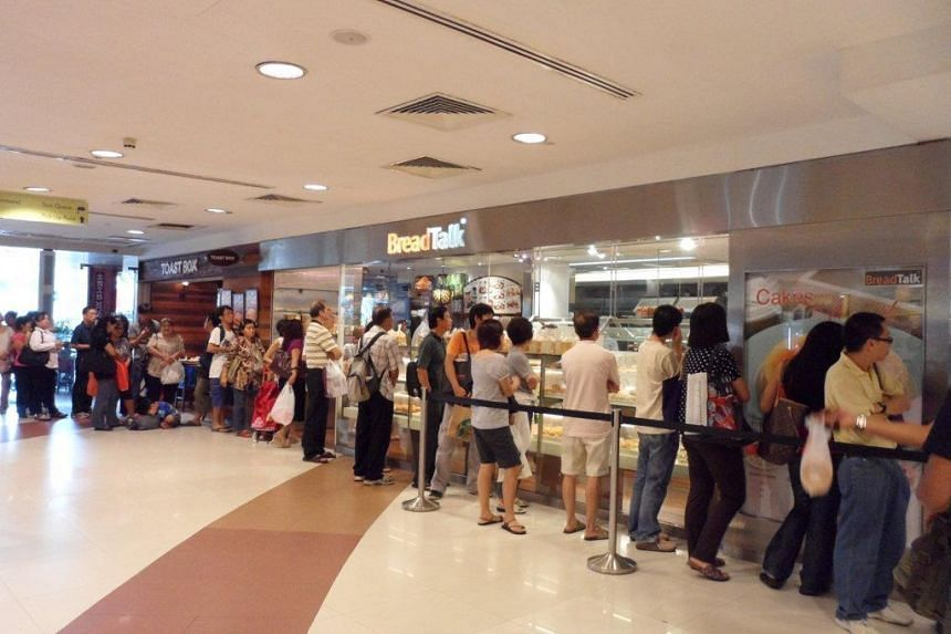 A file photo of BreadTalk & Toast Box at Plaza Singapura, taken in 2011. The outlets have been suspended from Friday to June 7, according to a suspension notice on the National Environment Agency's website.
