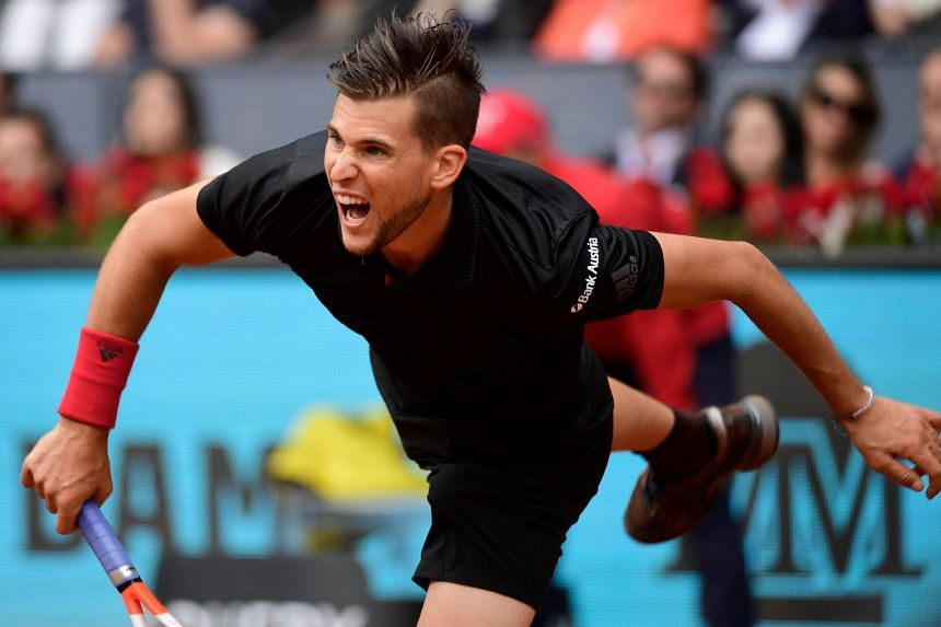 Austria's Dominic Thiem in action during the ATP Madrid Open in May 2018.