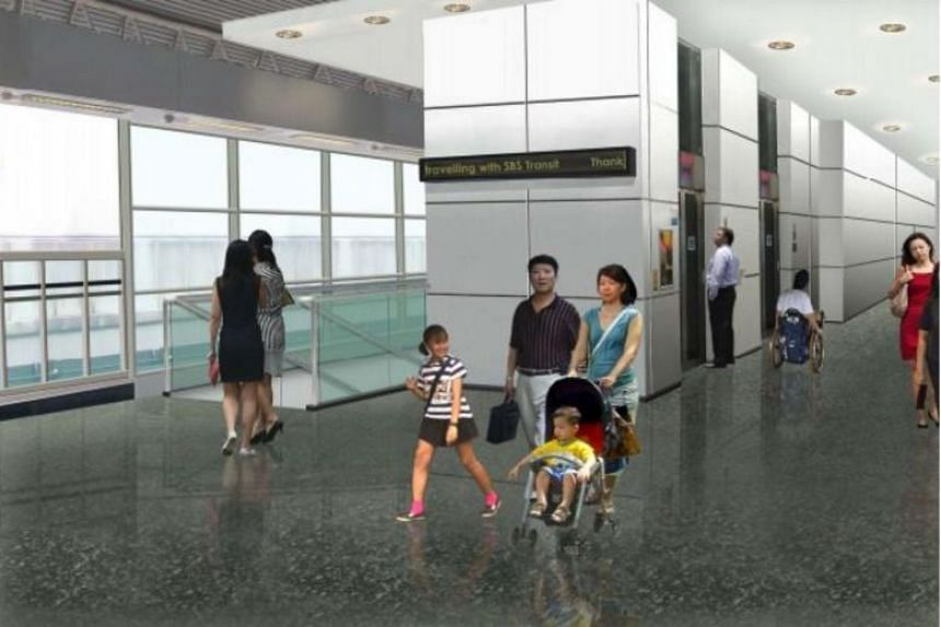 LTA will expand the current LRT train platform to create a more spacious area for commuters.