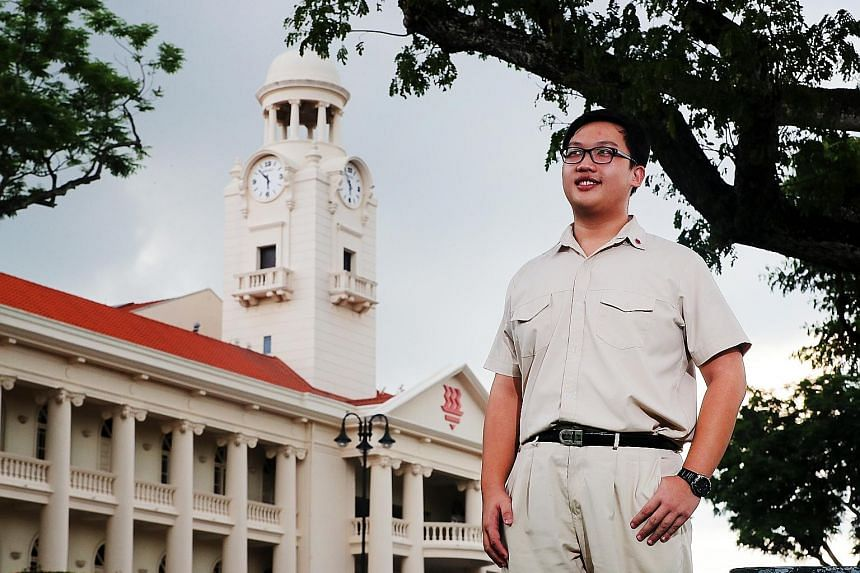 HCI student Thames Teo, from Kuo Chuan Presbyterian Primary, was inspired by a President's Scholar, who was from his alma mater.