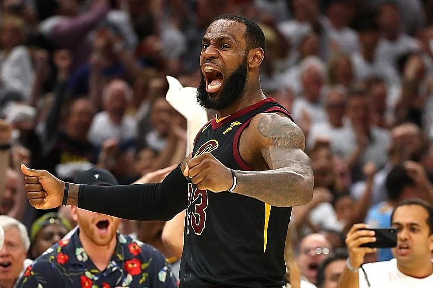 LeBron James of the Cleveland Cavaliers played a pivotal role in his side's 109-99 win against the Boston Celtics on Friday, despite a moment when he went down, clutching his knee in pain.