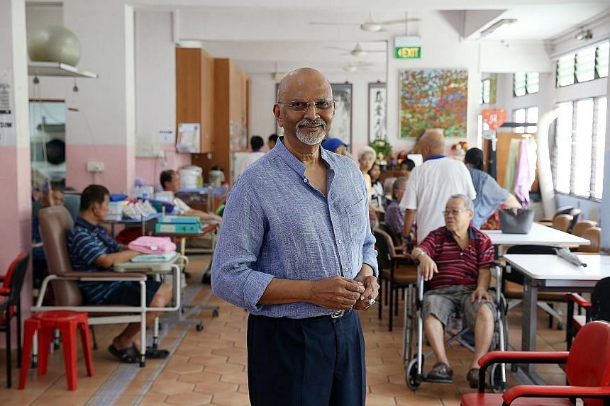 Mr Govind Bommi set up a $250,000 fund under the care of the Community Foundation of Singapore to support the Metta Day Rehabilitation Centre, which helps seniors discharged from hospitals get back on their feet.