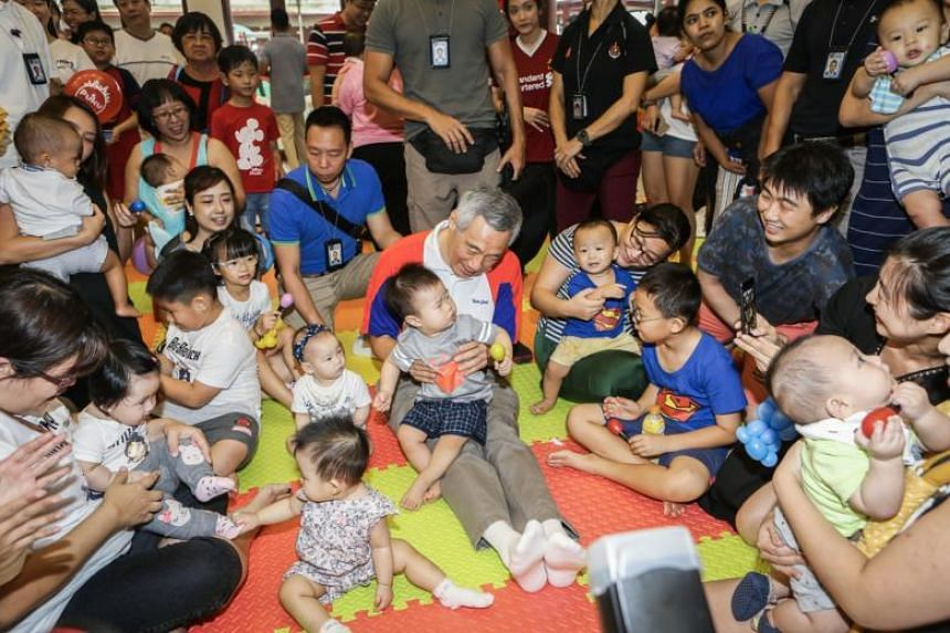 Prime Minister Lee Hsien Loong, who is also MP of the Teck Ghee ward in Ang Mo Kio GRC, noted that more than 250 babies - including six sets of twins - were born in Teck Ghee last year, a figure similar to previous years.