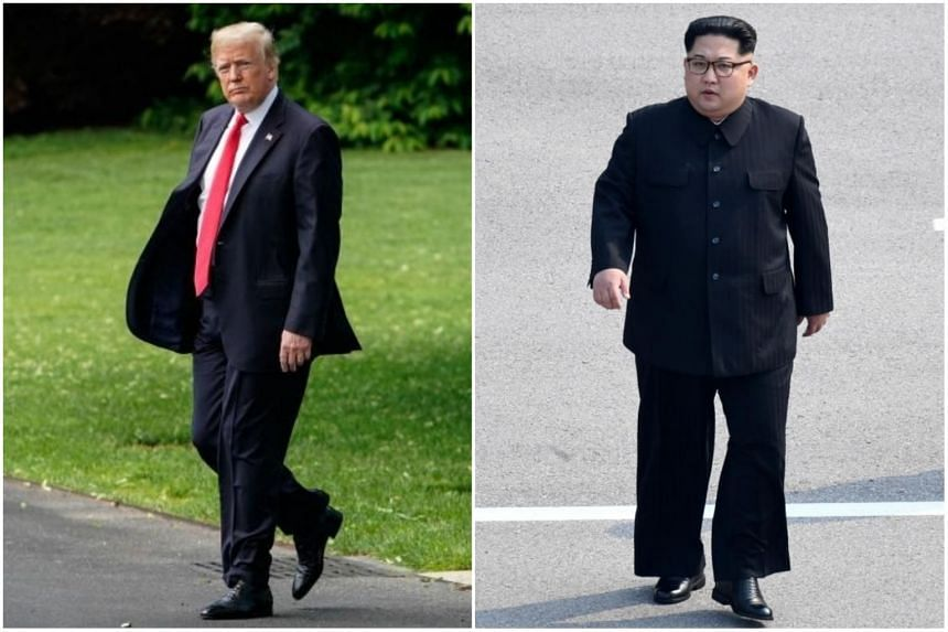 If North Korean leader Kim Jong Un (right) sits down with US President Donald Trump, it will the first meeting between a North Korean leader and a serving US President.