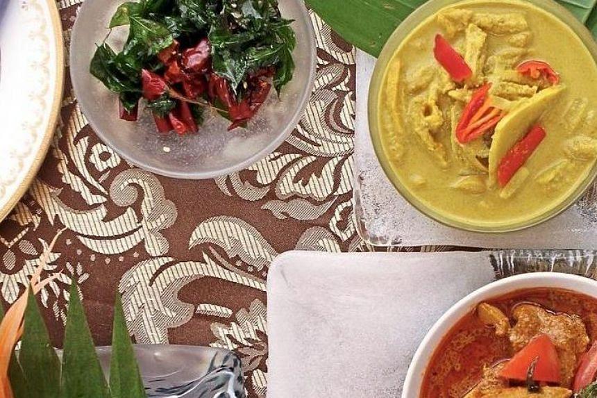 Traditional Malay kampung dishes from Melaka.