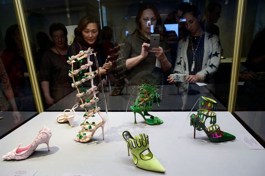 Manolo Blahnik: The Art Of Shoes, featuring shoes, designs and sketches by designer Manolo Blahnik, has travelled to museums such as the Hermitage (above) in St Petersburg, Russia.