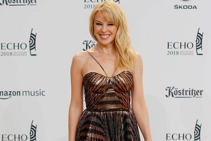Australian singer Kylie Minogue arriving at the Echo Music Awards ceremony in Berlin last month, when she also rolled out her album Golden.