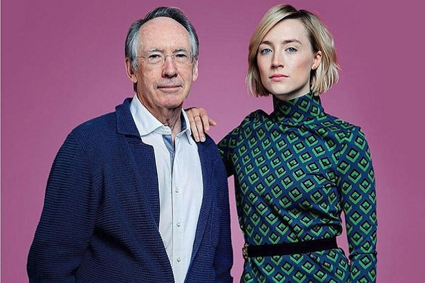 Author Ian McEwan wrote the 2007 novel, On Chesil Beach, for which he also wrote the screenplay for the film of the same name, starring Saoirse Ronan (both left).