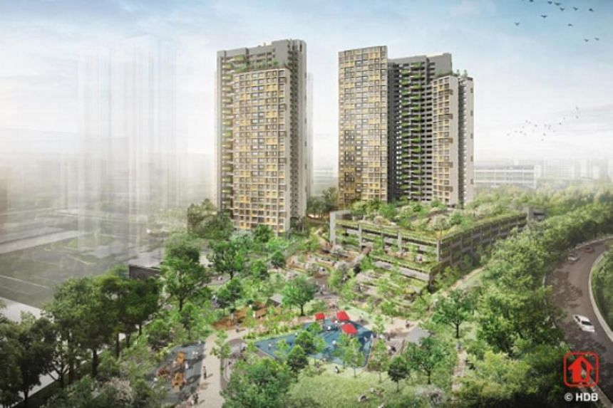 An artist's impression of Kim Keat Beacon in Toa Payoh. There were almost 2,400 applicants for 542 three- and four-room flats in Kim Keat Beacon as of 5pm on May 28, 2018.