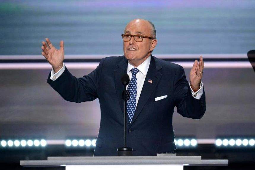 "The comments from former New York mayor Rudy Giuliani came as Trump lashed out again at what he called ""the phony Russia Collusion Witch Hunt."""