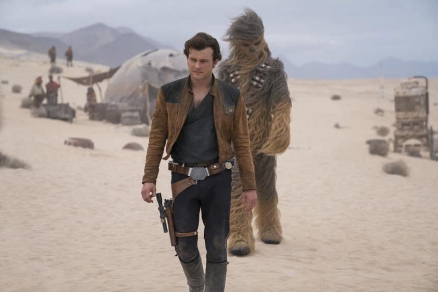 Solo, the second standalone Star Wars anthology film, has fallen far behind 2016's Rogue One, which landed a three-day weekend opening of US$155 million.
