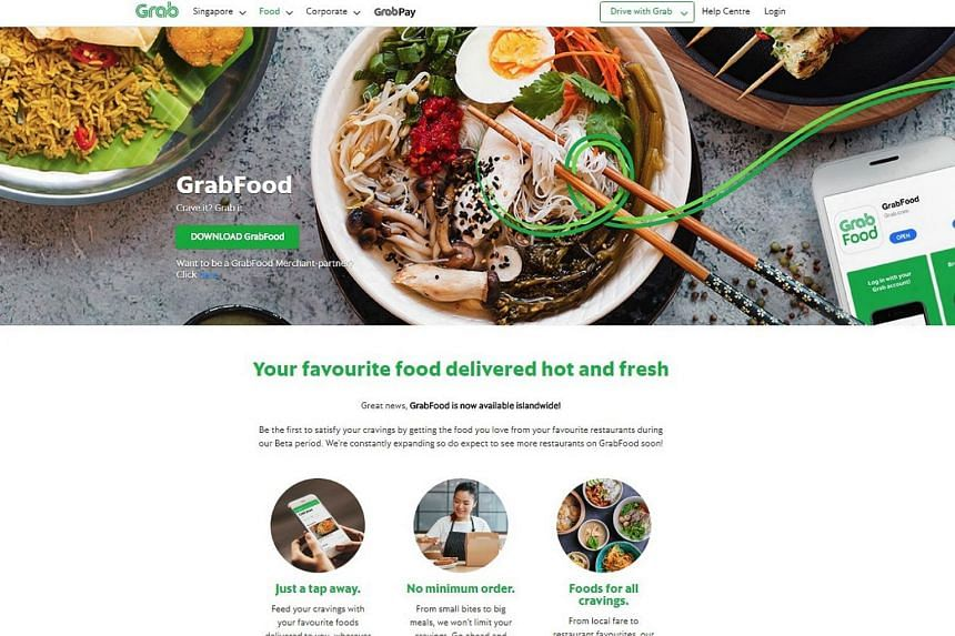 """GrabFood was piloted in selected regions in Singapore a few weeks ago, but is now available islandwide with """"thousands"""" of eateries on the platform, said Grab."""