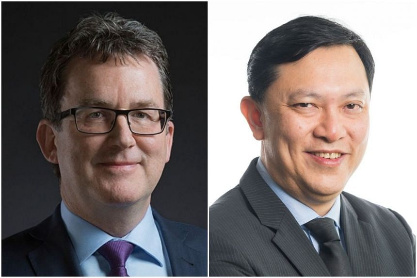 Graham Cockroft (left) will be Sembcorp's new group chief financial officer with effect from Sept 3, 2018, and its current CFO, Koh Chiap Khiong, has moved on to head the group's utilities business in Singapore, South-east Asia and China within Sembc