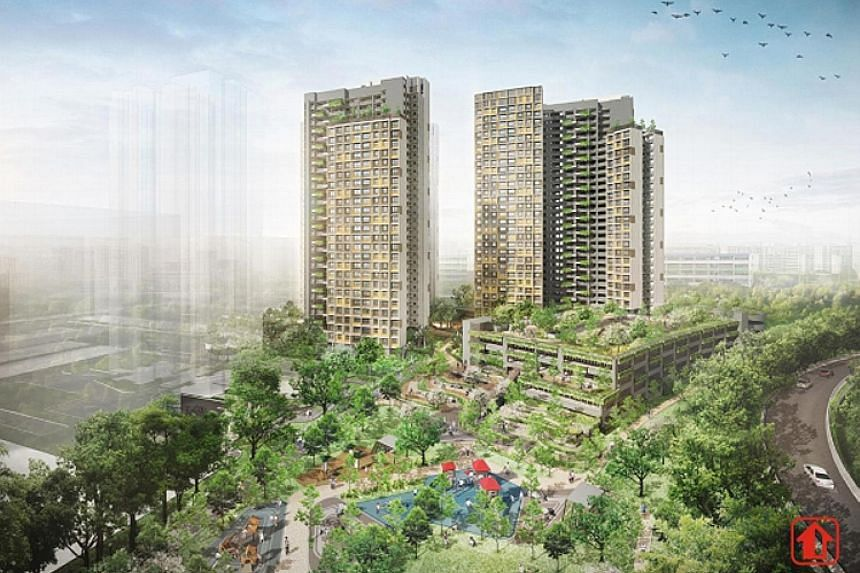 An artist's impression of Kim Keat Beacon in Toa Payoh. There were almost 2,400 applicants for 542 three-and four-room flats in the Kim Keat Beacon Build-To-Order project as of 5pm yesterday.