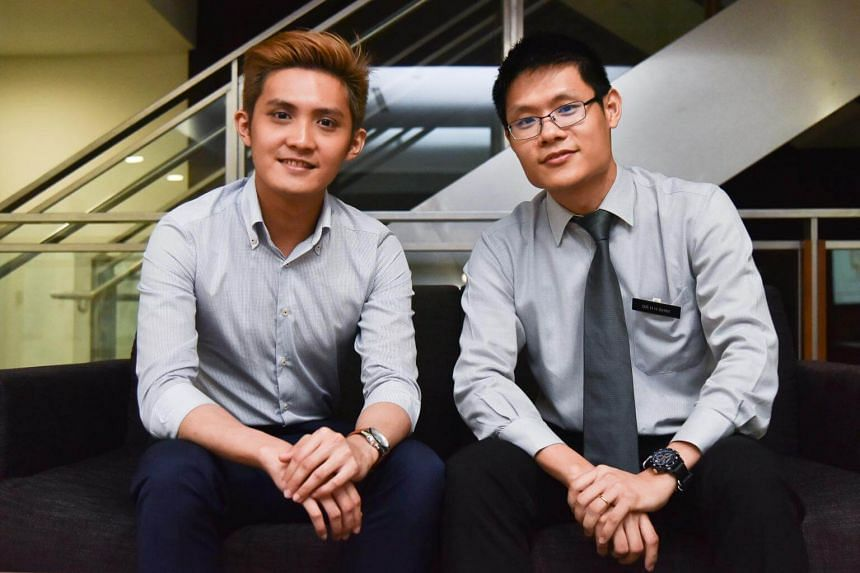 Mr Waise Koh (left) and his doctor, Dr Shim Hang Hock, consultant at Singapore General Hospital's department of gastroenterology and hepatology. Mr Koh was 18 years old when he was diagnosed with ulcerative colitis.