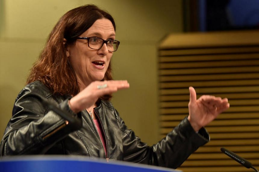 European Commissioner Cecilia Malmstrom will also take part in a meeting with US and Japanese counterparts on Thursday to continue trilateral discussions on steel overcapacity.