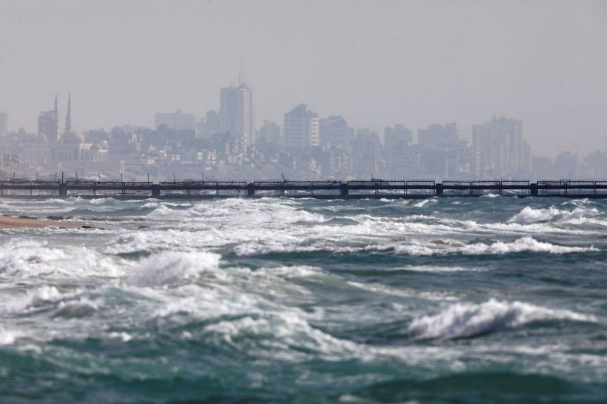 File photo showing the border between Israel and the Gaza Strip, seen from the Israeli side near Zikim, on May 27, 2018.