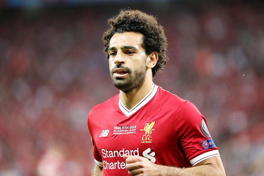 Mohamed Salah of Liverpool during the UEFA Champions League final between Real Madrid and Liverpool FC at the NSC Olimpiyskiy stadium in Kiev, Ukraine, on May 26, 2018.