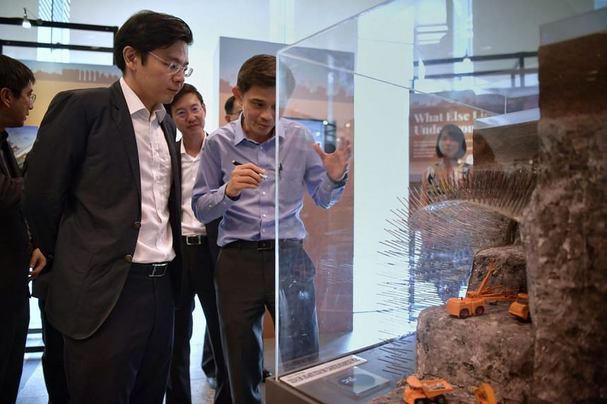Minister for National Development and Second Minister for Finance Lawrence Wong attends the Underground: Singapore's Next Frontier exhibition at The URA Centre, on May 30, 2018.