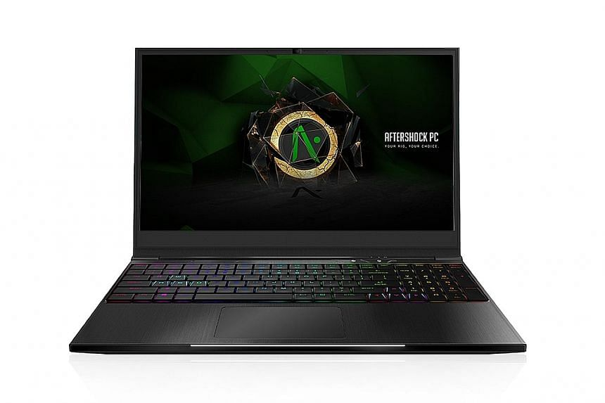 Aftershock Apex: Gaming laptop with slim screen bezels, PCs News