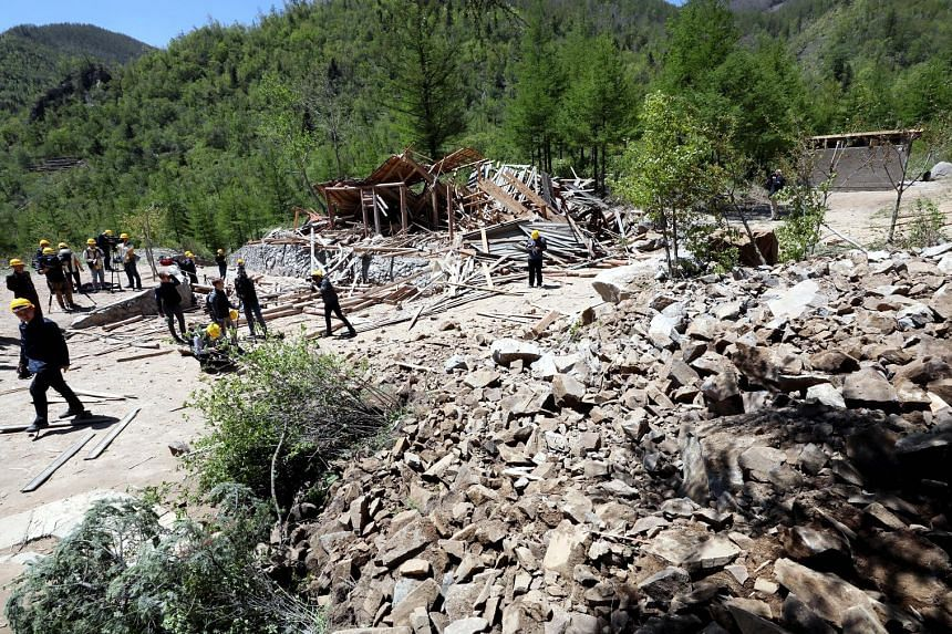 An inspection taking place in the aftermath of an explosion at an entrance tunnel during the first day of dismantling at North Korea's Punggye-ri nuclear test site last Thursday. US federal government adviser Siegfried Hecker has argued that the best