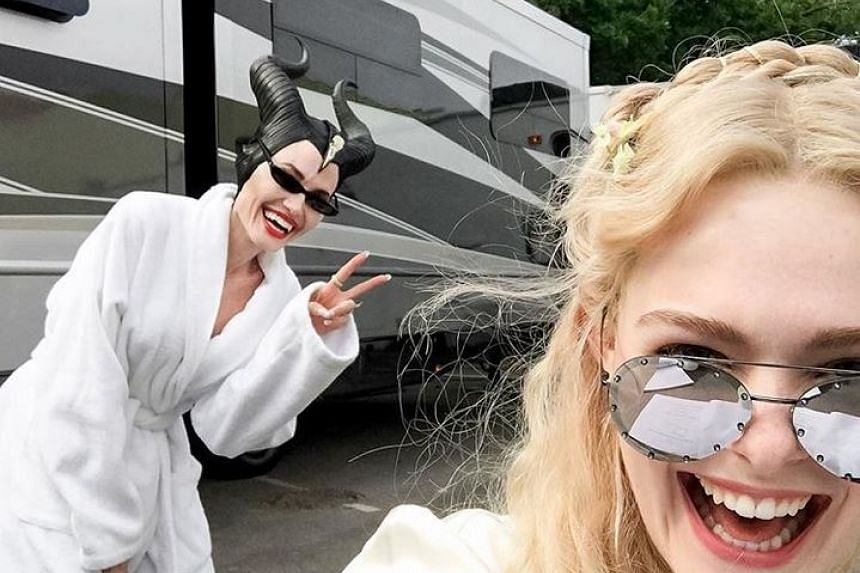 """It's bring your mom to work day on the Maleficent 2 set,"" Elle Fanning joked in an Instagram post that had been shared a quarter of a million times within an hour."